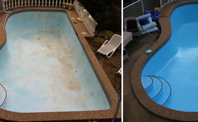 Pool Painting-before-after